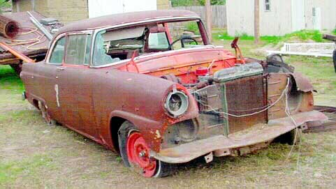 Ford two door sedan 1955 good southern parts car some surface rust